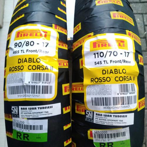 Foto Produk Ban motor Sport Pirelli Diablo Rosso Corsa II 90/80-17 & 110/70-17 dari raindry store