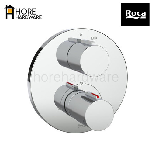 Foto Produk ROCA T1000 Kran Shower Tanam Concealed Thermostat Mixer A5A2C09C0V - Trimset Only dari HORE Hardware