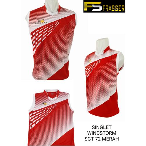 Foto Produk kaos singlet kutungan olahraga badminton frasser windstorm merah zf - L dari Pusat Grosir OLAHRAGA