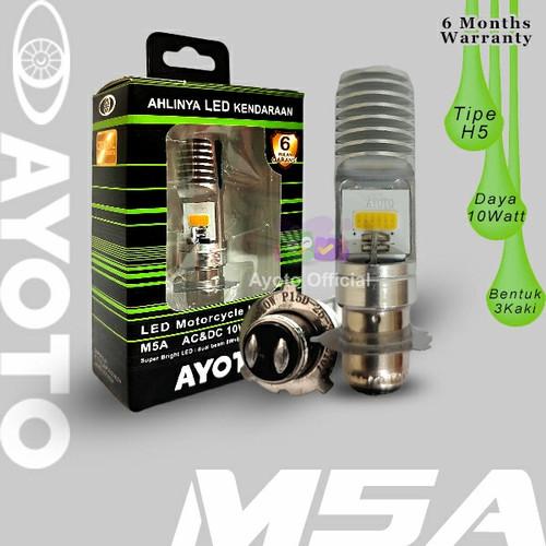 Foto Produk Lampu Depan LED Motor AYOTO M5A AC/DC Watt 10 Piringan Kaki 3 - Putih dari Ayoto Official