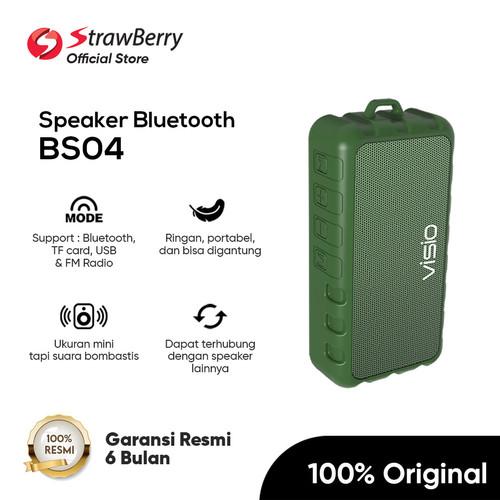 Foto Produk Visio BS04 Speaker Bluetooth Suara Ngebass Audio Hifi by Strawberry - Hijau dari Strawberry Official