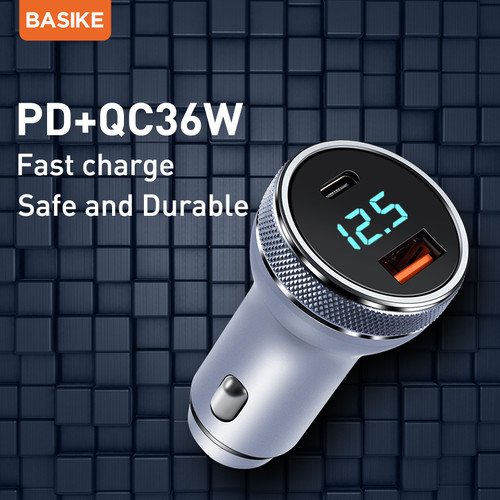 Foto Produk BASIKE Car Charger Fast charging 36W USB or Type-C output - BSK-UT78 dari Basike Official Store