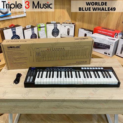 Foto Produk Worlde Bluewhale 49 blue whale 49 Midi controller 49 Keys dari triple3music
