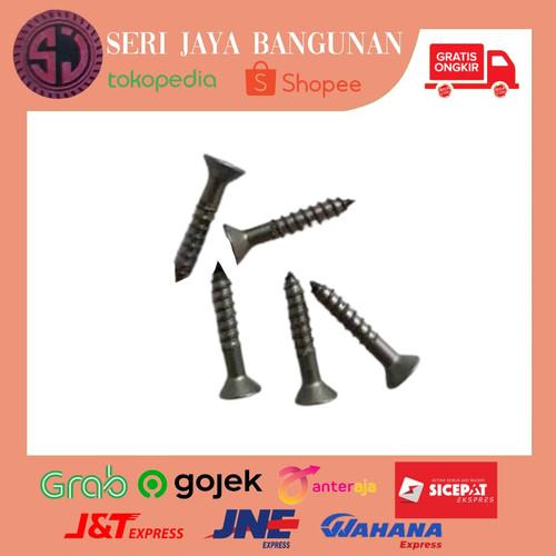 """Foto Produk Sekrup Skrup Kayu 1/2"""" inch/ 5/8""""/ 3/4"""" 1 Dus /Screw 1cm/ 1.5cm/ 2cm - 1/2"""" (1cm) dari Seri Jaya Bangunan"""