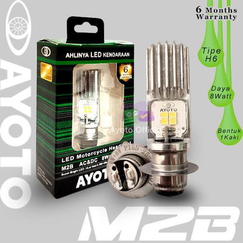 Foto Produk Lampu LED Motor H6 Hi-Lo 8W+8W AC DC AYOTO M2B BEBEK DAN MATIC - Putih/Putih dari Ayoto Official
