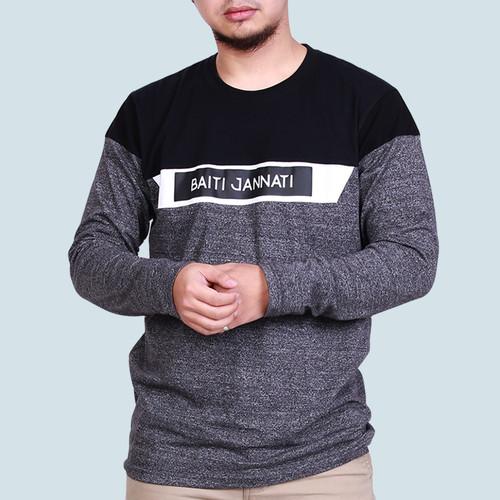Foto Produk KAOS DAKWAH PRIA ALZARA / BAJU HIJRAH LENGAN PANJANG MUSLIM ISLAMI - JANNATI 02B, M dari Shokid Store