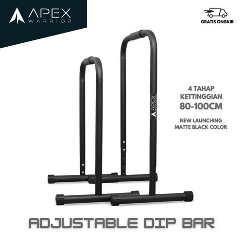 Foto Produk Adjustable Mobile Dip bar Lebert Equalizer Calisthenic Dip - Yelllow, Non-Adjustable dari Apex Warrior