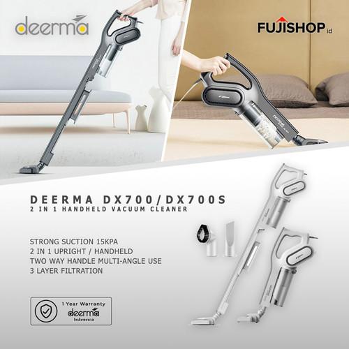 Foto Produk Deerma Vacuum Cleaner DX700 DX700S 2-in-1 Vertical Handheld Vacuum - Putih dari FUJISHOPid
