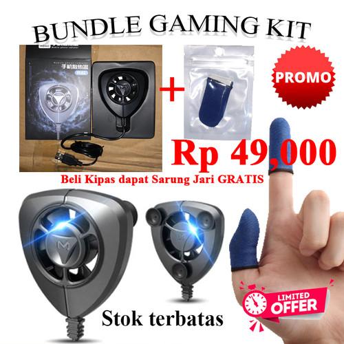 Foto Produk Kipas Pendingin Smartphone HP Gaming Cooling Fan   BONUS Sarung Jari dari RumahPlus