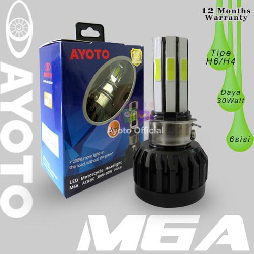 Foto Produk Lampu led motor bebek / matic 6 sisi Ayoto 30w + 30w M6A AC DC dari Ayoto Official