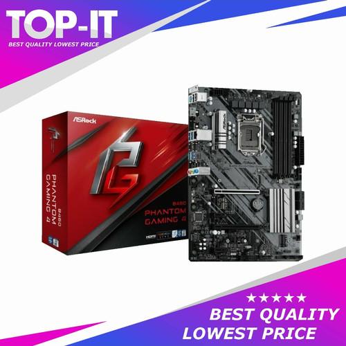 Foto Produk ASRock B460 Phantom Gaming 4 (LGA1200, B460, DDR4, USB3.2, SATA3) dari TOP - IT