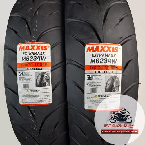 Foto Produk Paket Maxxis Extramaxx 120/70 & 140/70-17 Ban Supermoto BONUS Pentil dari Berkat Akur Nanjaya