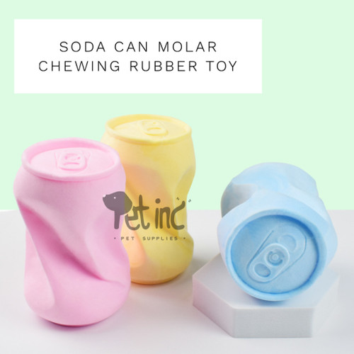 Foto Produk Soda can molar chewing rubber toy - Biru Muda dari Pet inc shop