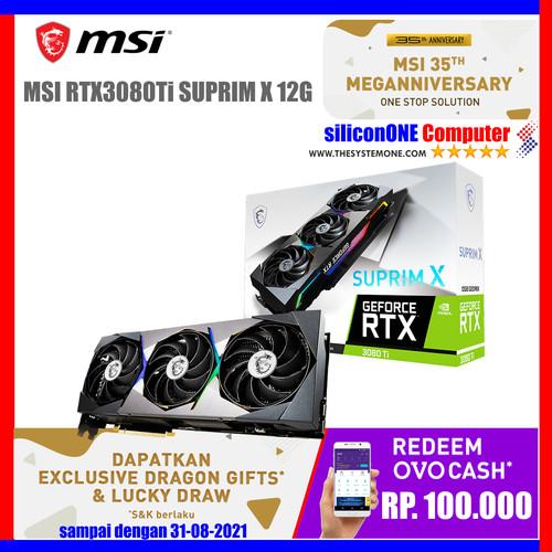 Foto Produk MSI RTX3080Ti SUPRIM X 12G RTX 3080 Ti 3080TI RTX3080 dari silicon ONE Computer