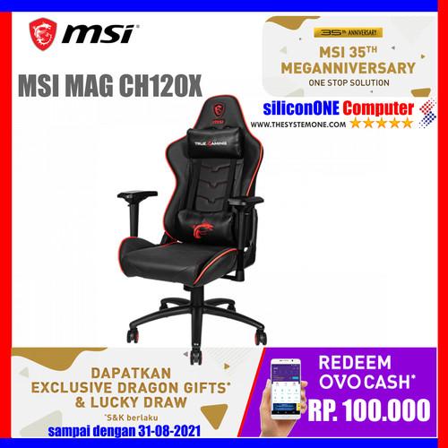 Foto Produk MSI MAG CH120 X GAMING CHAIR GAMING GEAR CHAIRS KURSI CH120X dari silicon ONE Computer