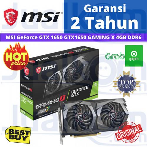 Foto Produk VGA MSI GeForce GTX 1650 GTX1650 GAMING X 4GB DDR6 dari Karya Citra Computers