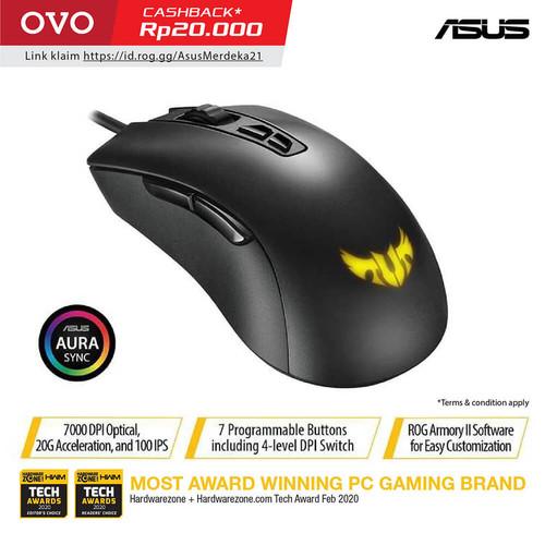 Foto Produk ASUS TUF Gaming M3 Ergonomic Wired RGB Gaming Mouse with 7000 dpi dari Asus Component