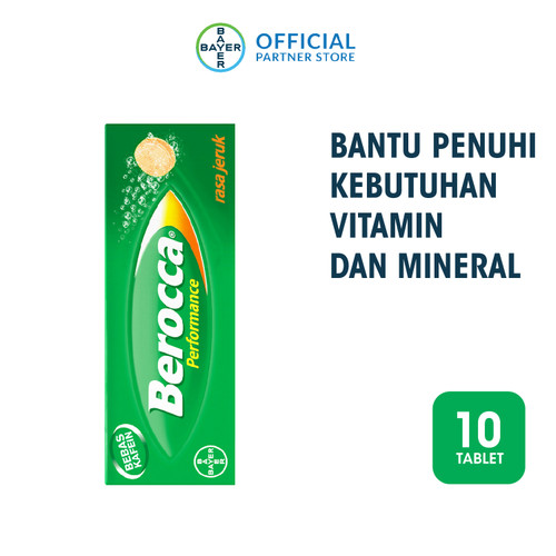 Foto Produk Berocca Multivitamin B kompleks Rasa Jeruk 10 Tablet dari Bayer Health Partner