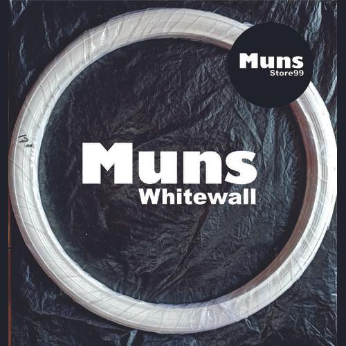 Foto Produk Lis Ban/ lisban Motor Velg Ring 17 Warna Putih/Merah/Biru/Hitam - Putih dari muns store99