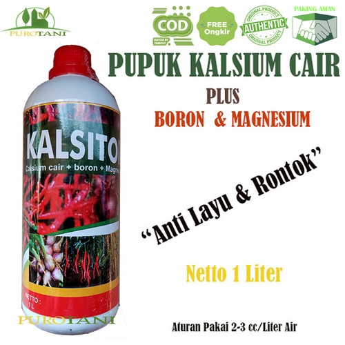 Foto Produk Pupuk Anti Layu Rontok Kalsium Cair Plus Boron Magnesium Kalsitor 1ltr dari Purotani.ID
