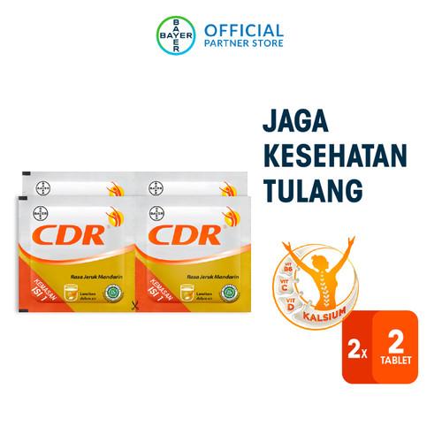 Foto Produk CDR Suplemen Kalsium Rasa Jeruk 2 x 2 Sachet dari Bayer Health Partner