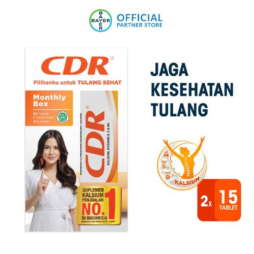 Foto Produk CDR Suplemen Kalsium Rasa Jeruk 30 Tablet - Monthly Box dari Bayer Health Partner