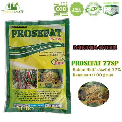 Foto Produk Insektisida Pembasmi Ulat Prosefat 77SP 100gr Bahan aktif asefat dari Purotani.ID