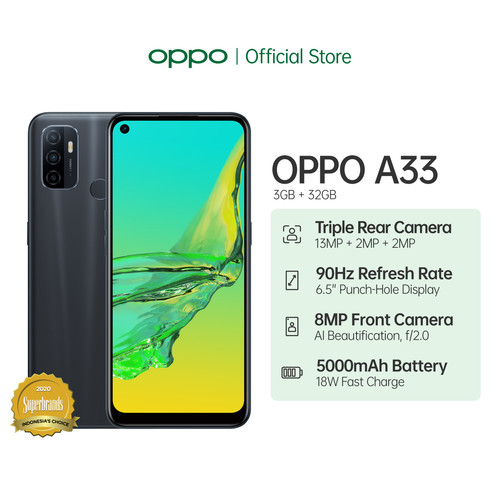 Foto Produk OPPO A33 Smartphone 3GB/32GB (Garansi Resmi) - Hitam dari OPPO OFFICIAL STORE