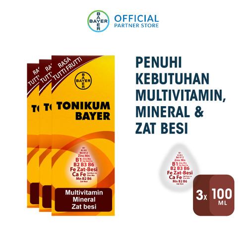 Foto Produk Tonikum Multivitamin, Mineral, dan Zat Besi 100ml x 3 Unit dari Bayer Health Partner