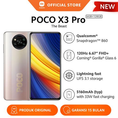 Foto Produk XIAOMI Mi POCO X3 Pro 6/128GB NFC Snapdragon™ 860 48MP 5160mAh - Metal Bronze dari Xiaomi Official Store
