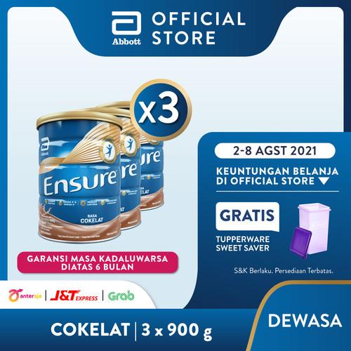 Foto Produk Ensure Coklat 900 g Susu Nutrisi Dewasa Rendah Laktosa - 3 klg dari Abbott Official Store