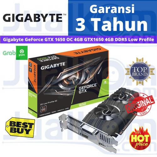 Foto Produk Gigabyte GeForce GTX 1650 OC 4GB GTX1650 4GB DDR5 Low Profile 128BIT dari Karya Megah Computers