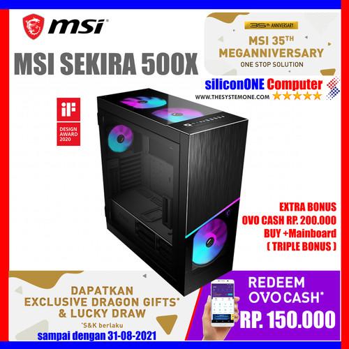 Foto Produk MSI MPG SEKIRA 500X [4x200MM+1x120MM] EATX 2XTG EXTRACTABLE RADIATOR dari silicon ONE Computer