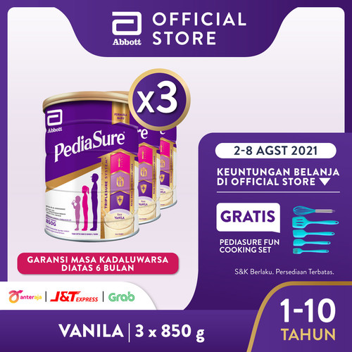 Foto Produk Pediasure Vanila 850 g (1-10 tahun) Susu Formula Pertumbuhan - 3 klg dari Abbott Official Store