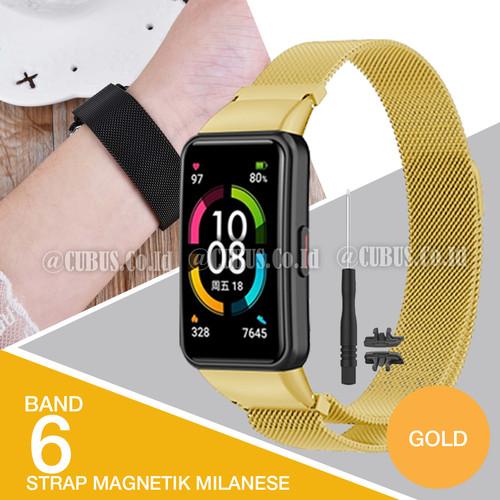 Foto Produk Strap/Tali jam tangan Milanese Magnetic for Huawei/Honor Band 6 - Gold dari Cubus_Co_ID