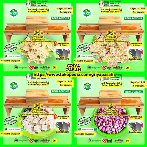 Foto Produk ALAT PEMOTONG KERIPIK PISANG KAYU MURAH dari Griyapasah Official Store