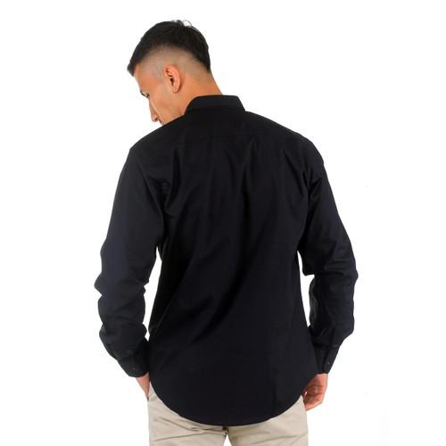 Foto Produk Benhill Kemeja Pria Basic Polos Panjang Katun Poplin Hitam 27357-58 - M dari Benhill_Official_Shop