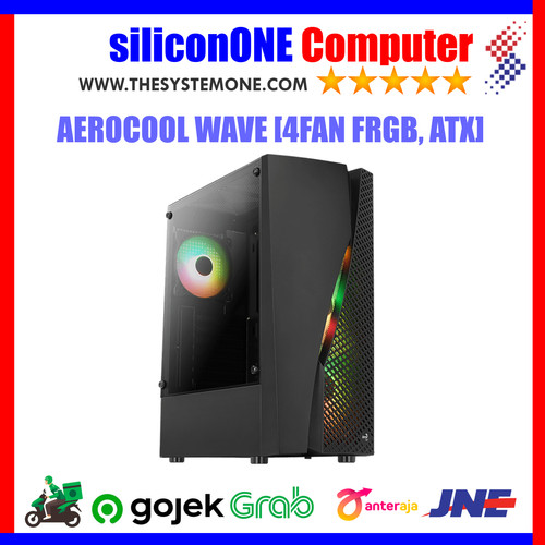 Foto Produk AEROCOOL WAVE [4FAN FRGB, ATX] Tempered GPU297mm Cooler 158mm dari silicon ONE Computer