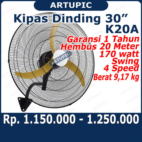 Foto Produk Kipas Dinding Kandang Ayam Wall Fan 30 inch dari ArtupicPeralatanPeternak