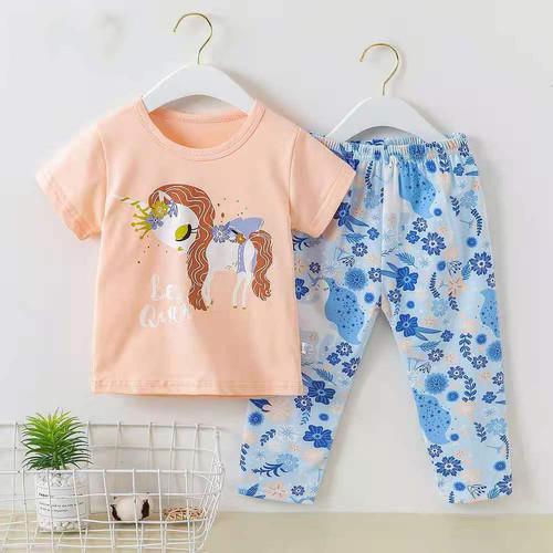 Foto Produk Baju tidur lengan pendek celana panjang anak perempuan/ piyama import - DA 6, 55 dari @melodybabynkids