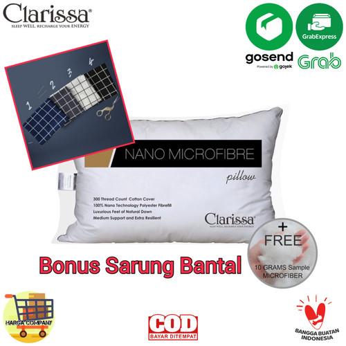 Foto Produk Bantal Nano Microfiber Bulu Angsa Sintetis Bantal Clarissa - 50x70 cm dari Harga Company