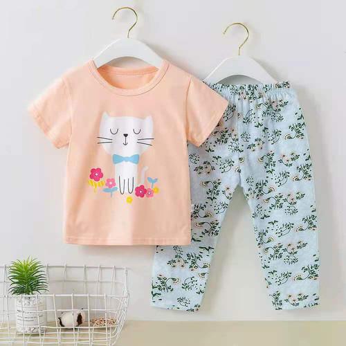 Foto Produk Baju tidur lengan pendek celana panjang anak perempuan/ piyama import - DA 2, 55 dari @melodybabynkids