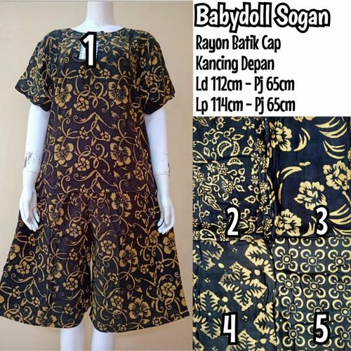 Foto Produk Setelan Batik Baju Tidur Wanita Jumbo Celana Pendek dari RayaFashion.