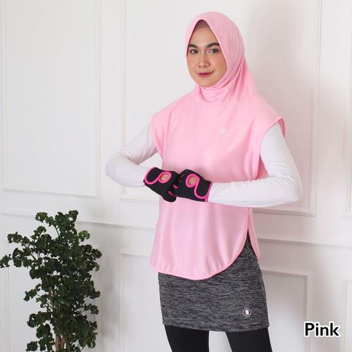 Foto Produk HITJAB - Rompi Vest Luaran Hijab Sport Olahraga Utk Lari Senam Sepeda - VEST PINK dari Hitjab & Co