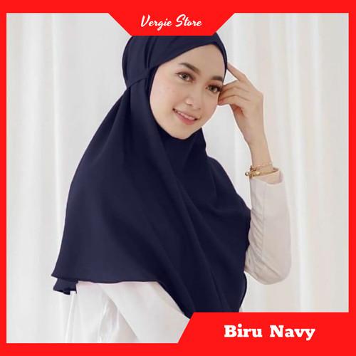 Foto Produk Jilbab Tali AZKIA Instan Termurah Diamond Premium | Hijab Instan Murah - Biru Navy dari Veergie Store