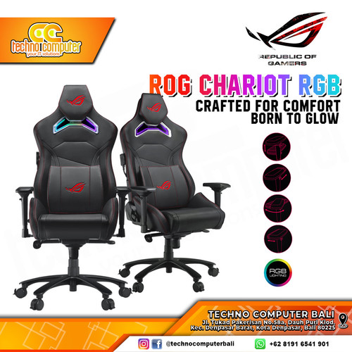 Foto Produk KURSI GAMING ASUS ROG Chariot RGB 4D Armrest Gaming Chair dari Techno Computer Bali