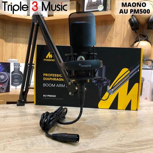 Foto Produk MAONO AU PM500 XLR Microphone mic Condenser Set pack dari triple3music