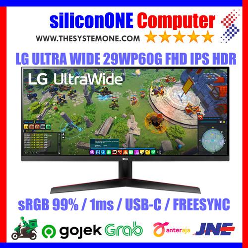 Foto Produk LG 29WP60G UltraWide IPS HDR Full HD sRGB99% USB-C FreeSync dari silicon ONE Computer