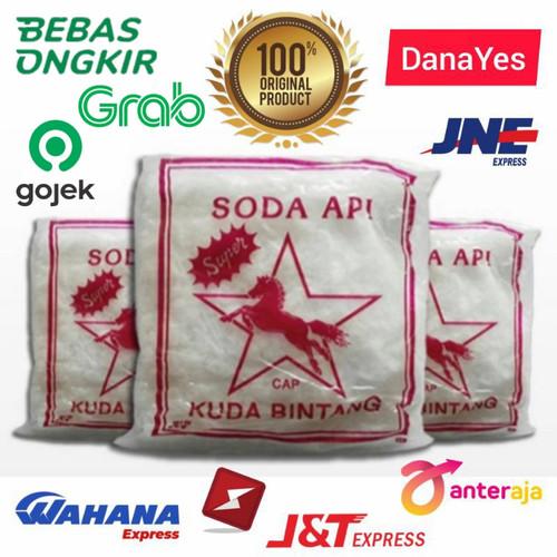Foto Produk Soda Api Anti Sumbat Coustic Kaustik Soda Flake NaOH Sodium Hidroxide - 1/2 Kg dari DanaYes