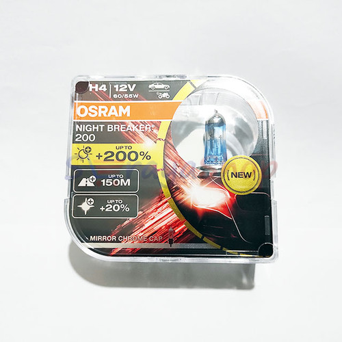 Foto Produk Lampu Halogen H4 Night Breaker 200 OSRAM dari Seraya Shop